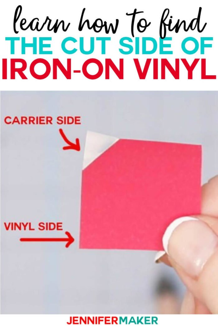 Learn the EASY ways to figure out which side of iron on vinyl goes down when you cut it in this simple tutorial. #cricut #cricutmade #cricutmaker #cricutexplore #vinylprojects #diy
