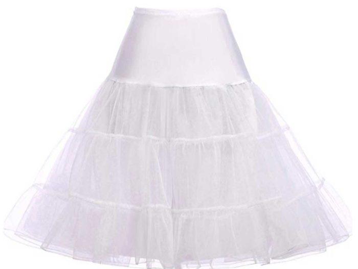 White crinoline petticoat