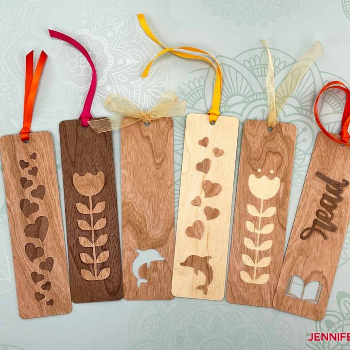 These are what some of my finished bookmarks look like from my Wooden Bookmarks project