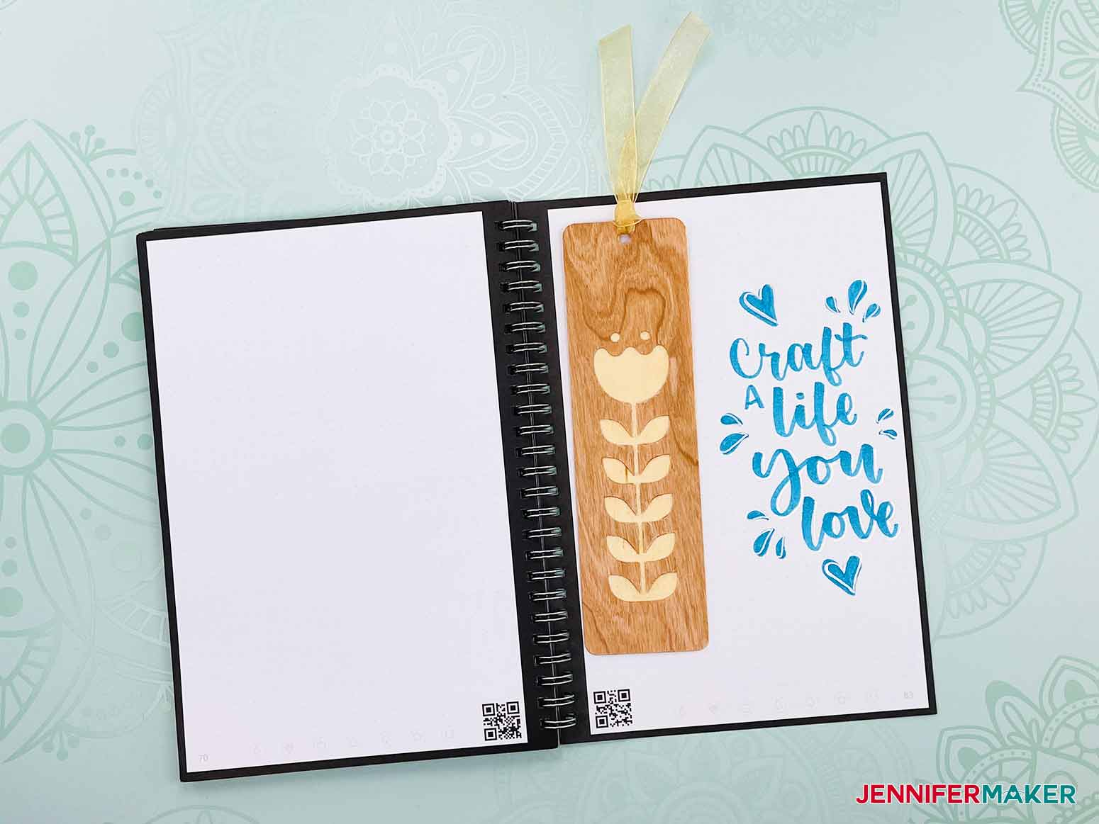 This is what one of my bookmarks looks like from my Wooden Bookmarks project